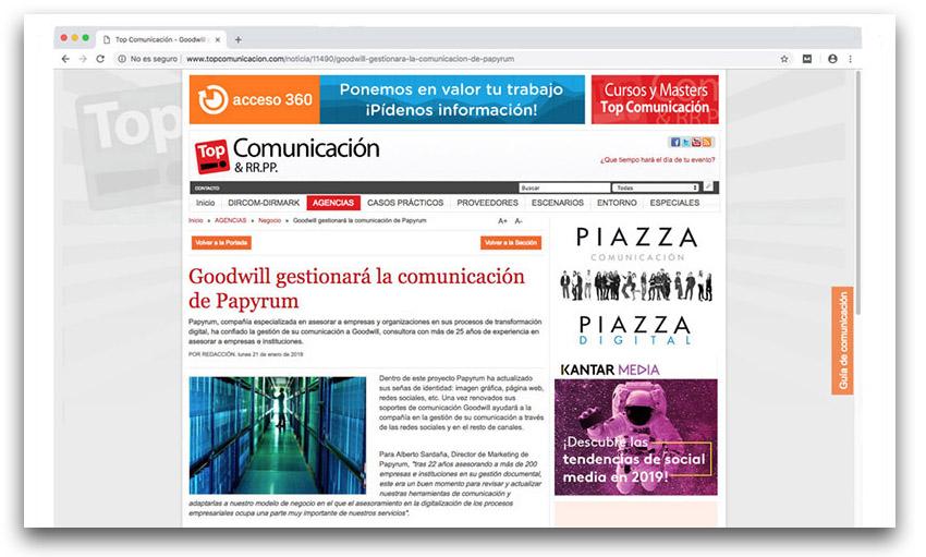 Papyrum en Top Comunicación